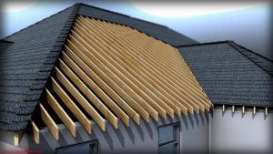زیرسازی و سازه نگهدارنده سقف شیبدار